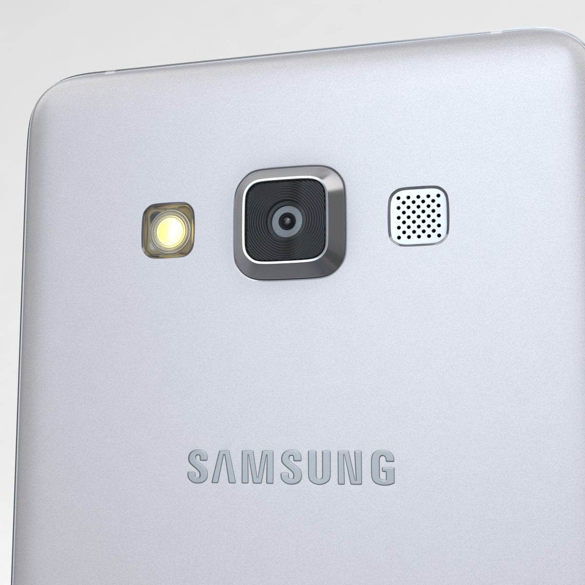 samsung galaxy a3 and a3 duos silver 3d model 3ds max fbx c4d obj 208320