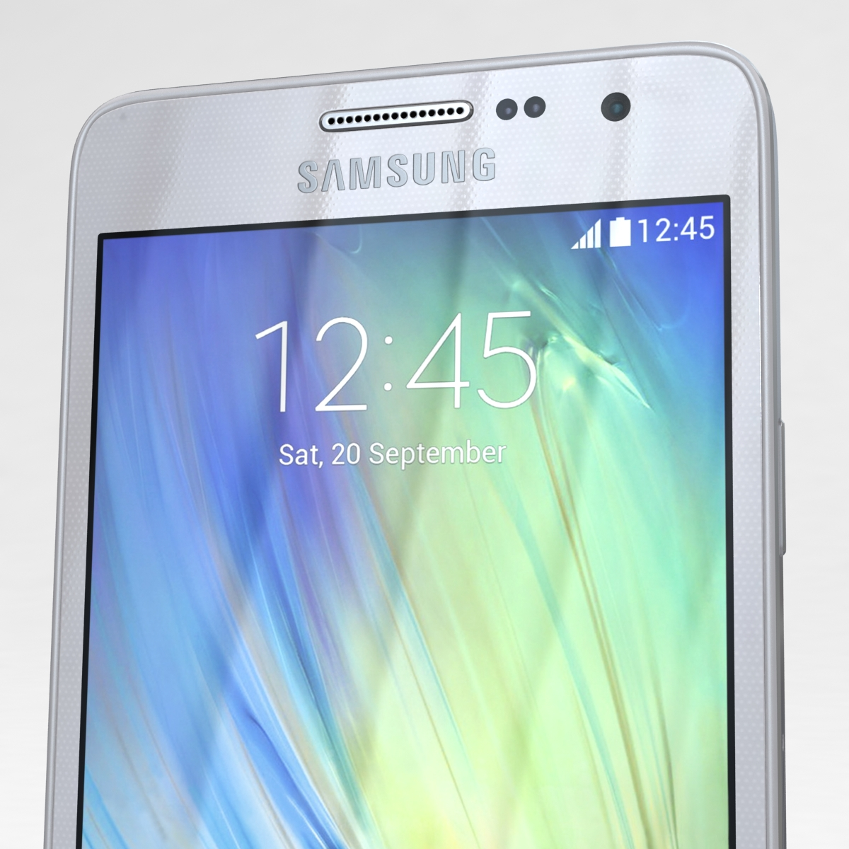 samsung galaxy a3 and a3 duos silver 3d model 3ds max fbx c4d obj 208323