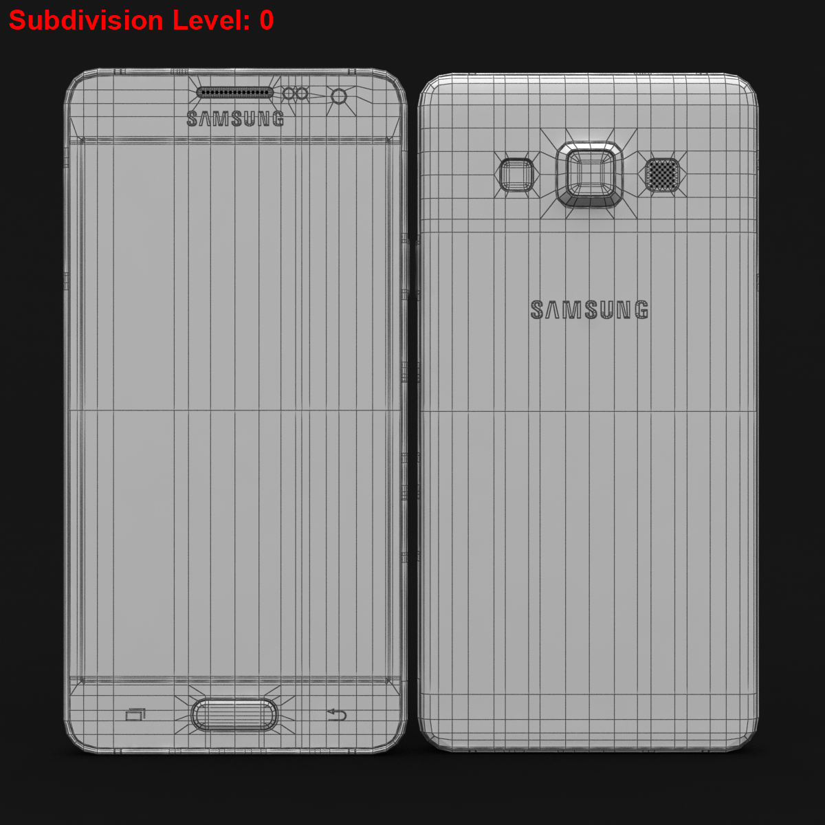 samsung galaxy a3 and a3 duos silver 3d model 3ds max fbx c4d obj 208327