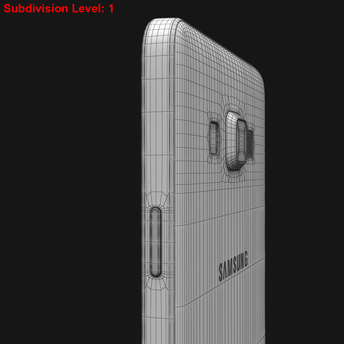 samsung galaxy a3 and a3 duos silver 3d model 3ds max fbx c4d obj 208330