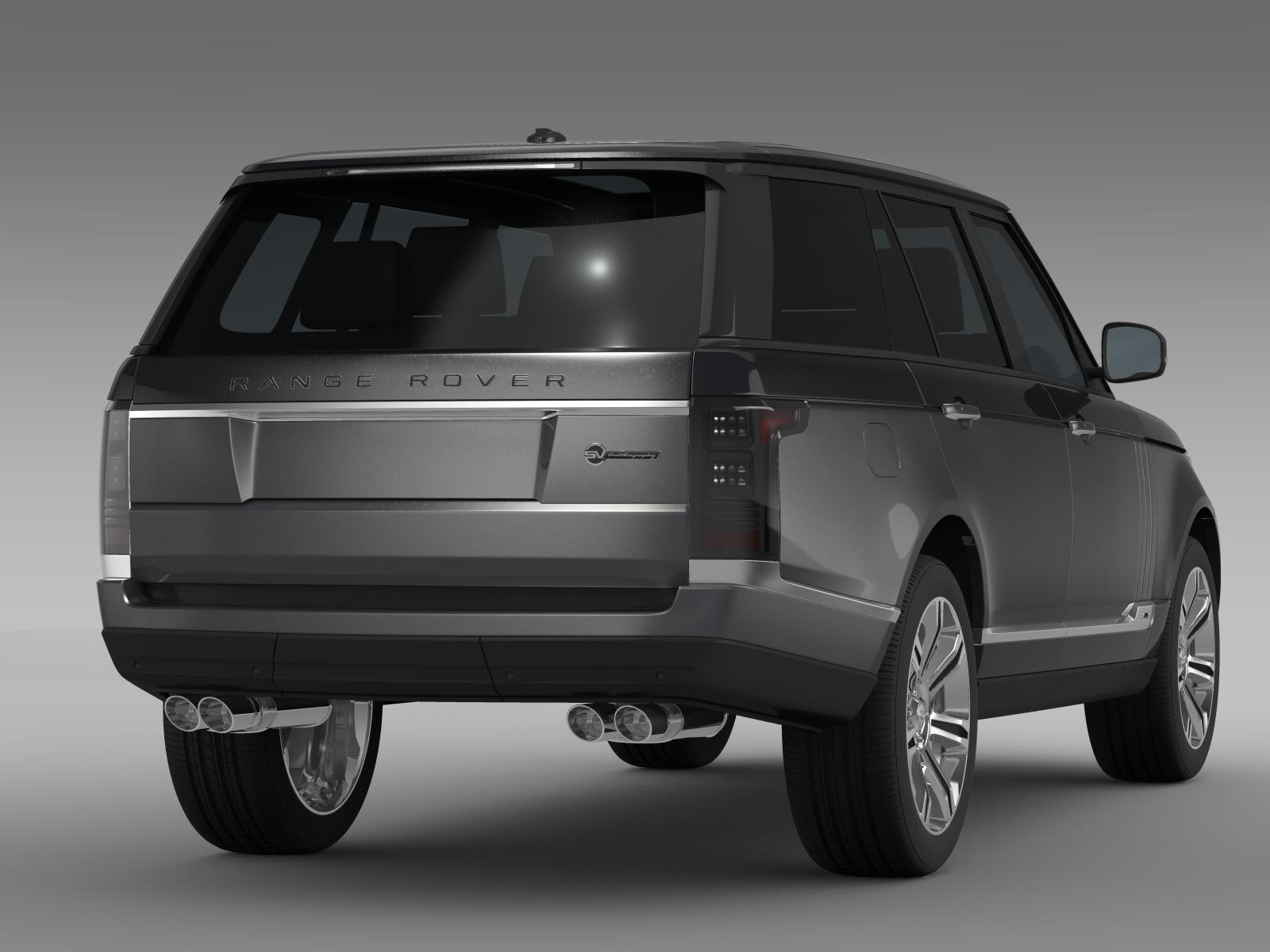 range rover svautobiography l405 2016 3d model buy range. Black Bedroom Furniture Sets. Home Design Ideas