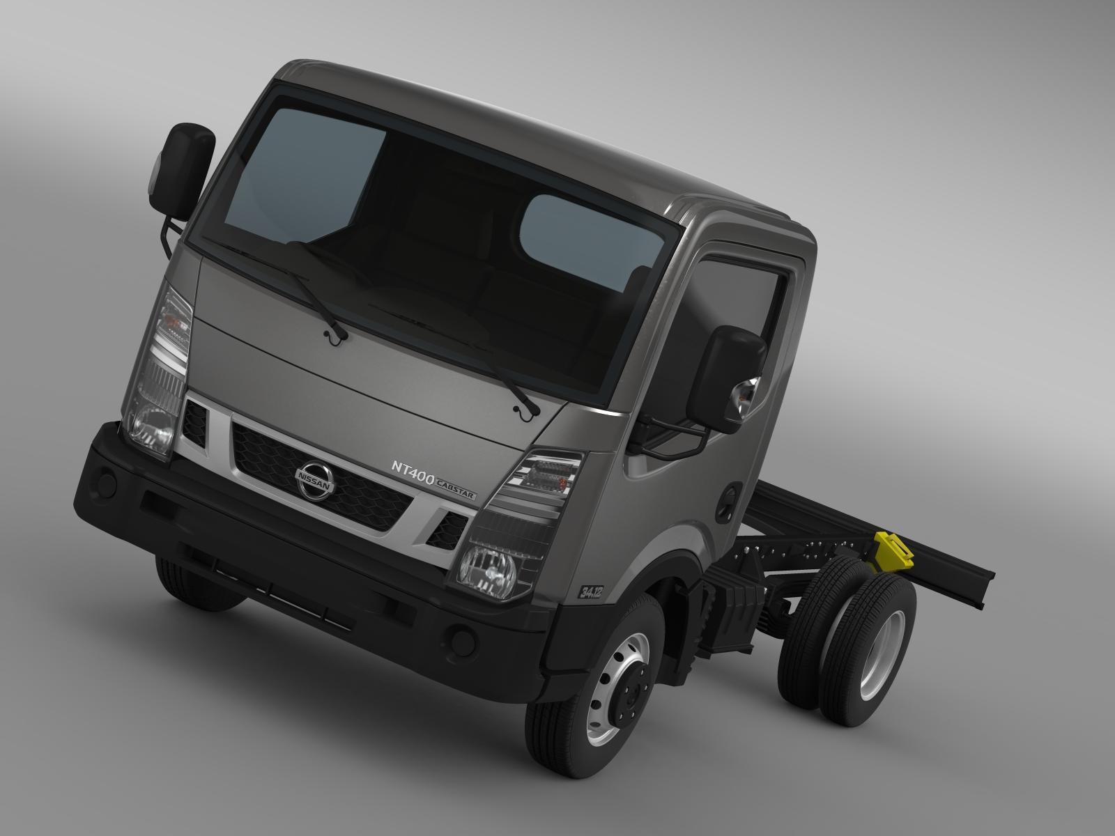 nissan nt400 cabstar 2014 chassi 3d modell 3ds max fbx c4d lwo ma mb hrc xsi objektum 208361