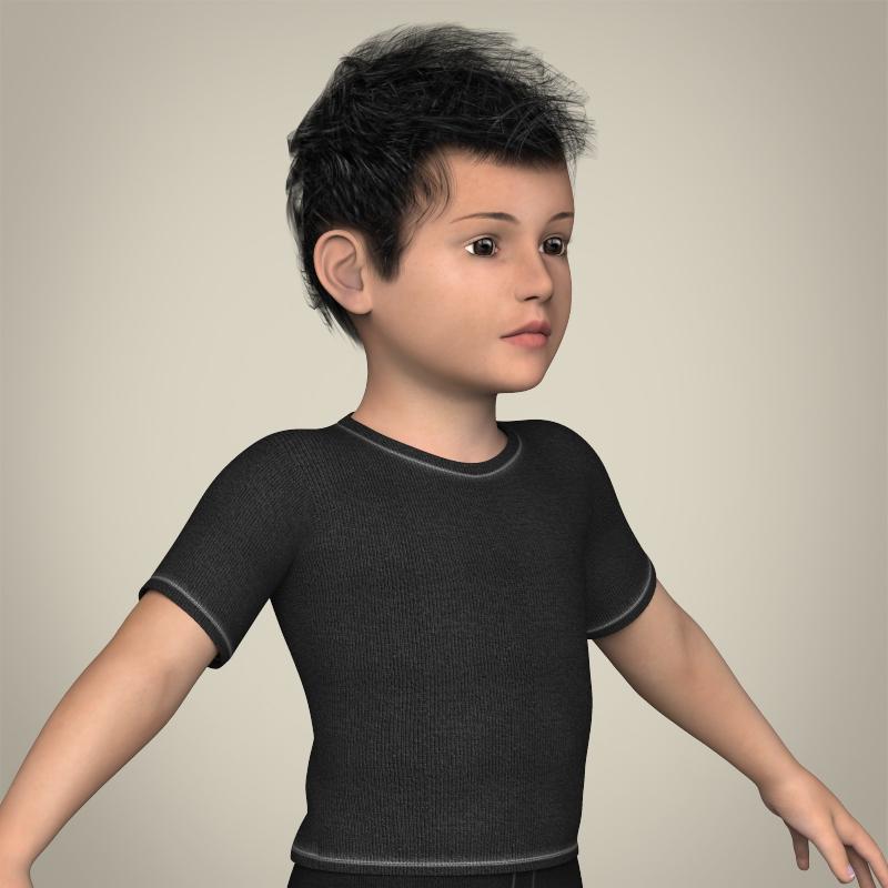 Young Teen Boy 3D Model