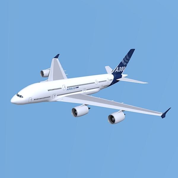 Airbus A380 giant airplane enhanced 3d model 3ds fbx blend obj 208404