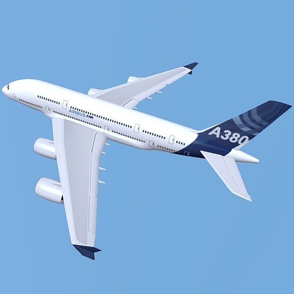 airbus a380 giant airplane enhanced 3d model 3ds fbx blend obj 208405
