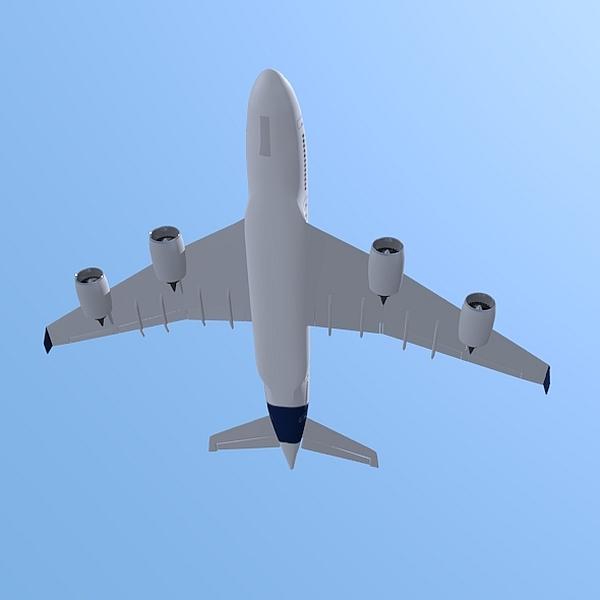 airbus a380 giant airplane enhanced 3d model 3ds fbx blend obj 208406