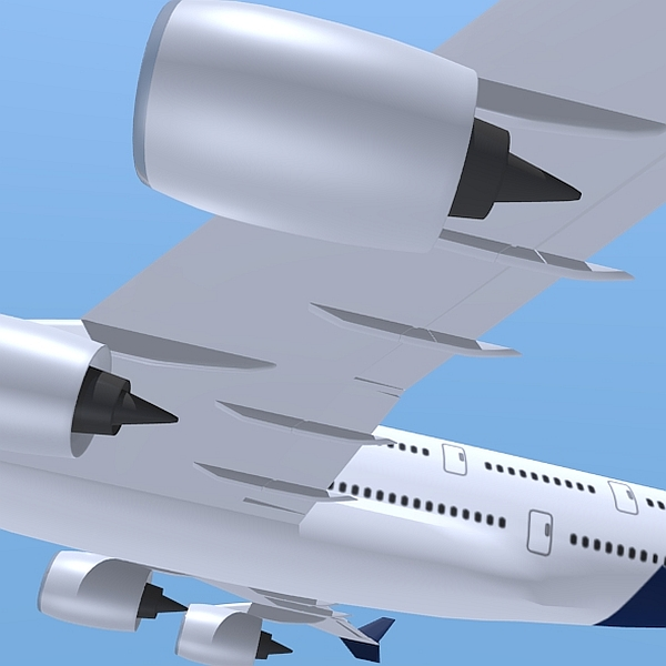 airbus a380 giant airplane enhanced 3d model 3ds fbx blend obj 208407