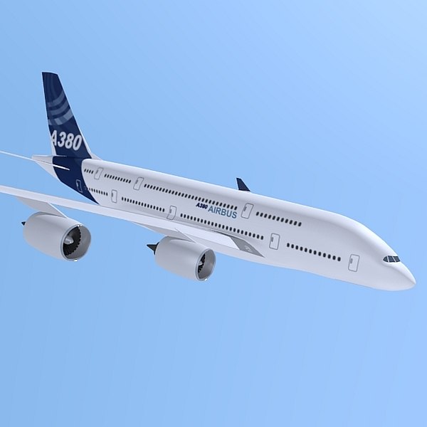 airbus a380 giant airplane enhanced 3d model 3ds fbx blend obj 208408