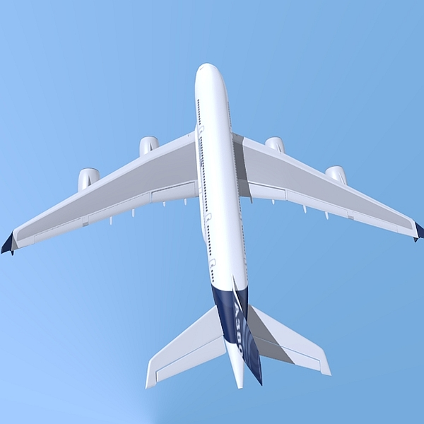 airbus a380 giant airplane enhanced 3d model 3ds fbx blend obj 208409