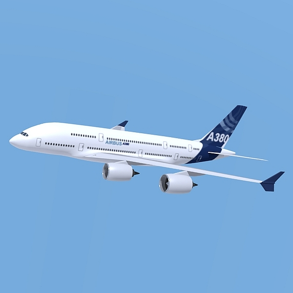 airbus a380 giant airplane enhanced 3d model 3ds fbx blend obj 208410