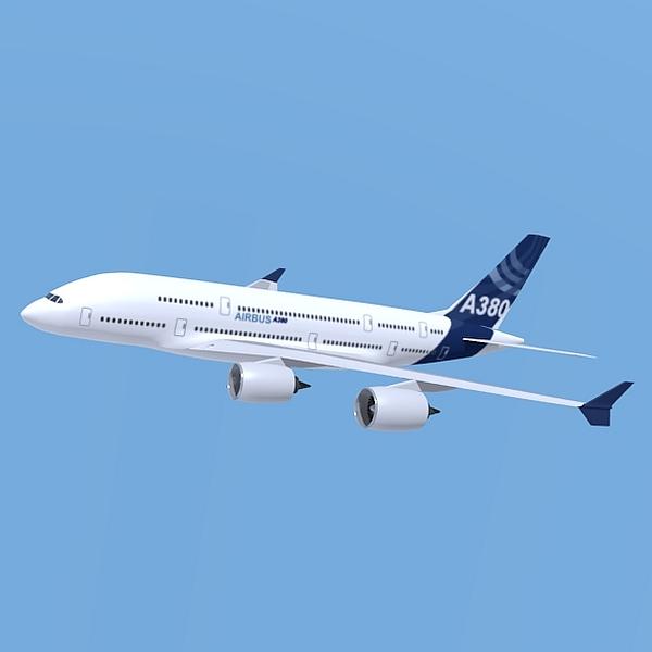 Airbus A380 giant airplane enhanced ( 60.8KB jpg by futurex3d )