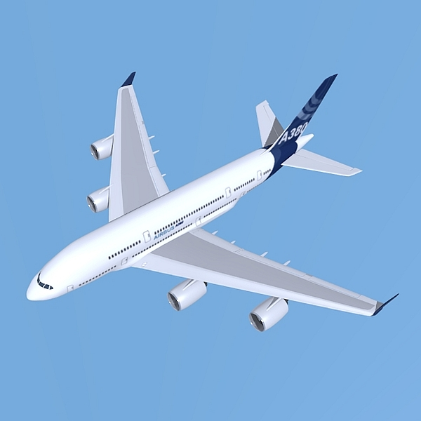 airbus a380 giant airplane enhanced 3d model 3ds fbx blend obj 208411