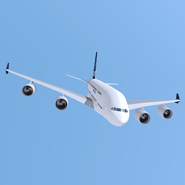airbus a380 giant airplane enhanced 3d model 3ds fbx blend obj 208412