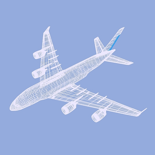 airbus a380 giant airplane enhanced 3d model 3ds fbx blend obj 208413