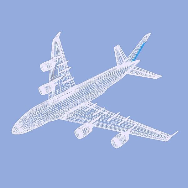 Airbus A380 giant airplane enhanced ( 98.76KB jpg by futurex3d )
