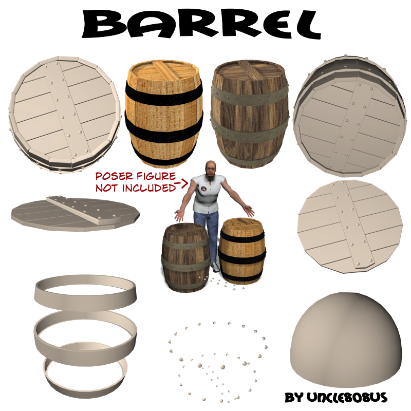 barrel 3d model obj 208476