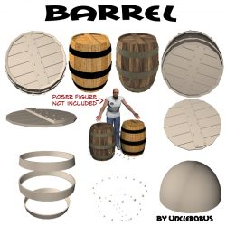 Barrel 3d model obj