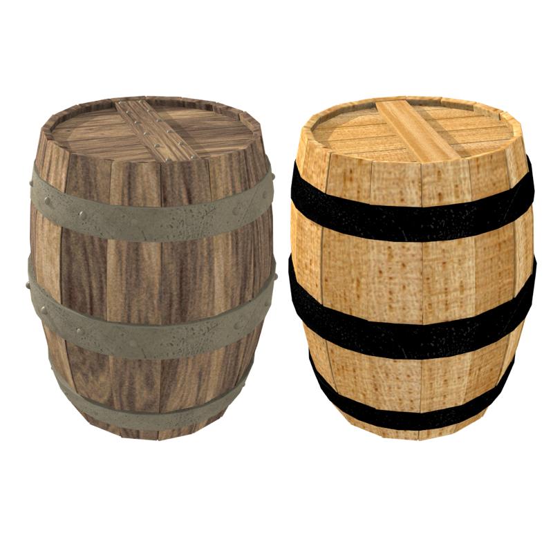 barrel 3d model obj 208477