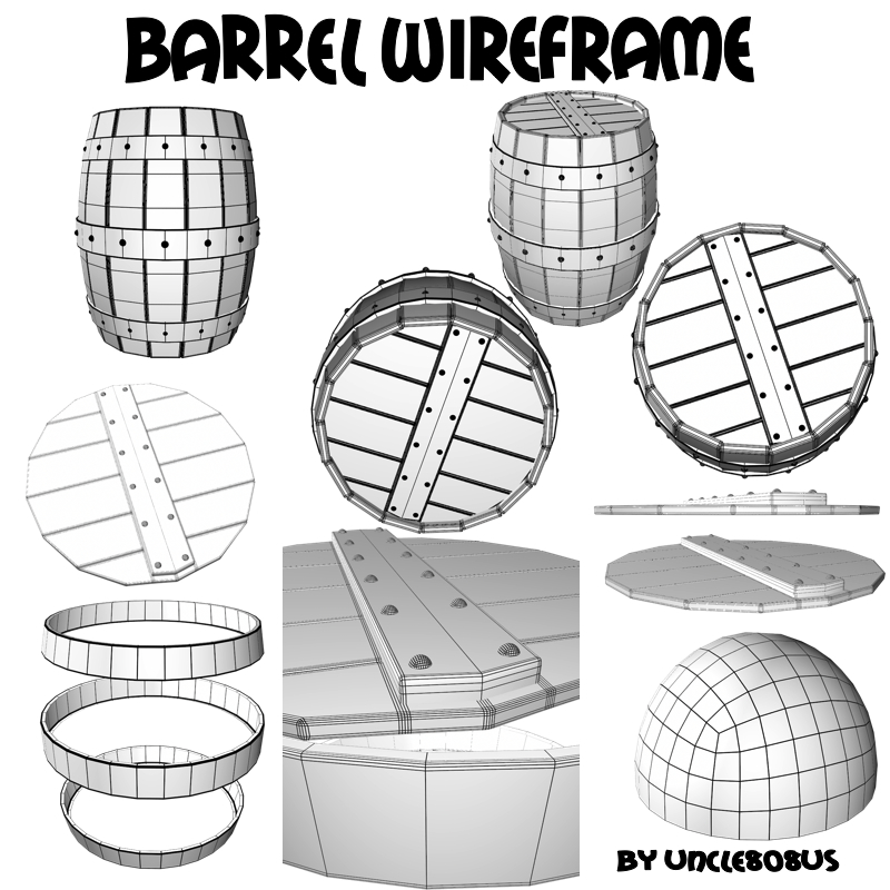barrel 3d model obj 208478