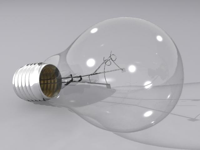 lamp bulb 3d model max fbx obj 208500