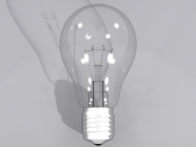 lamp bulb 3d model max fbx obj 208503
