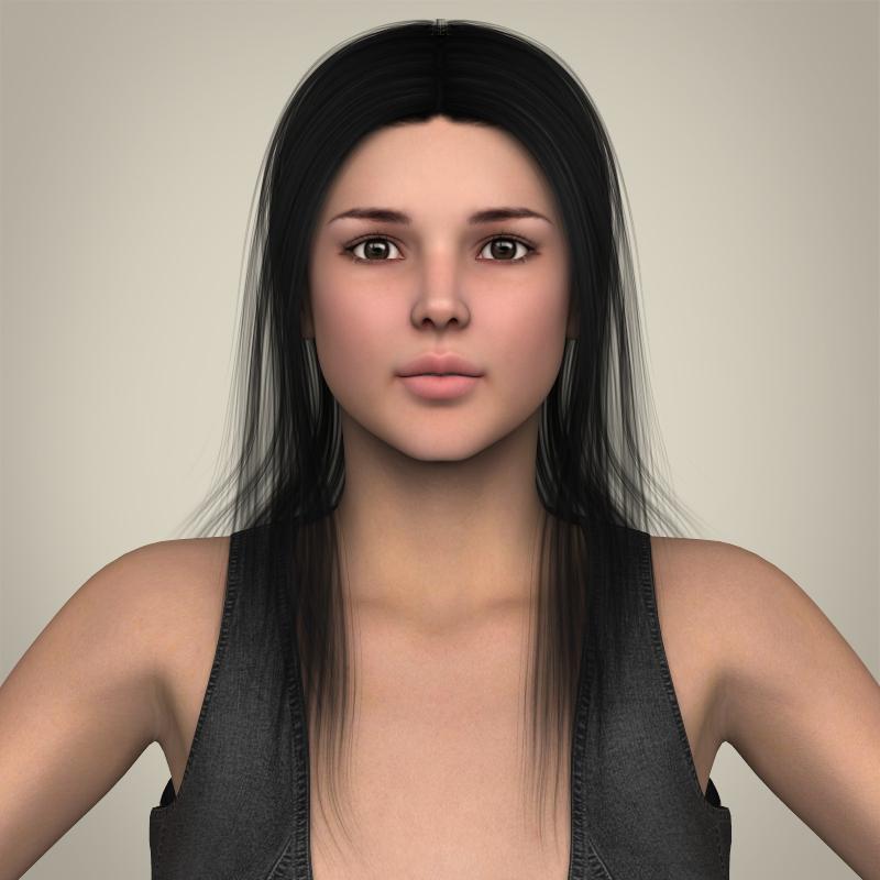 Realistic Beautiful Sexy Girl 3d model 3ds max fbx c4d lwo lws lw ma mb  obj 208507