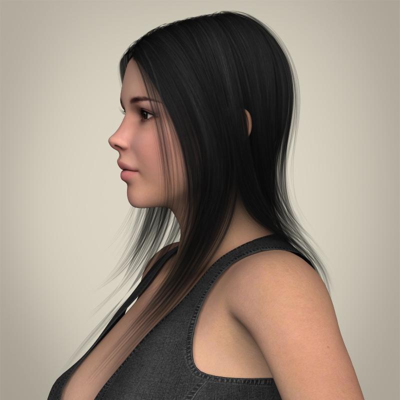 realistic beautiful sexy girl 3d model 3ds max fbx c4d lwo ma mb texture obj 208508