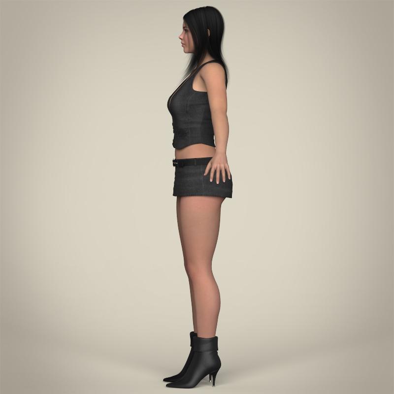 realistic beautiful sexy girl 3d model 3ds max fbx c4d lwo ma mb texture obj 208515