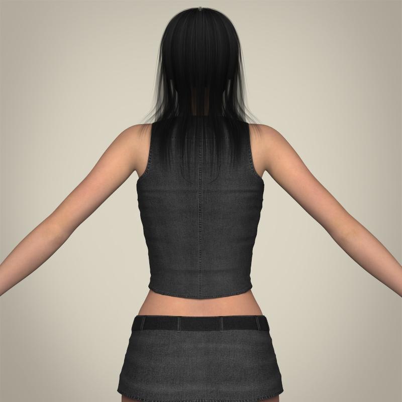 realistic beautiful sexy girl 3d model 3ds max fbx c4d lwo ma mb texture obj 208516