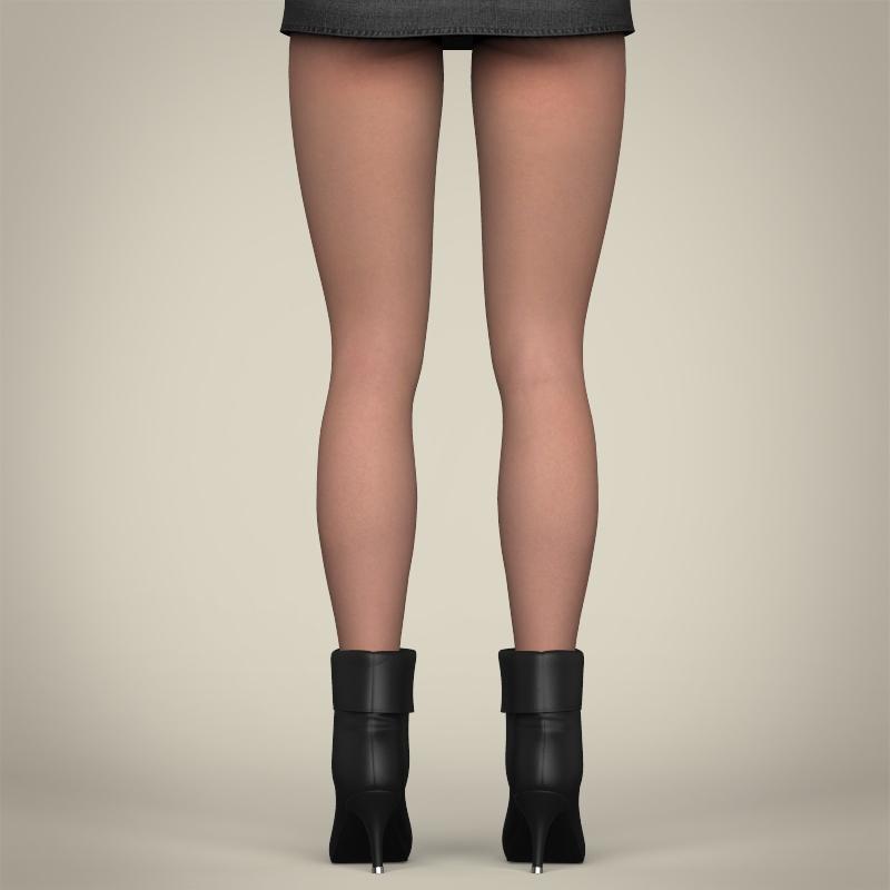 realistic beautiful sexy girl 3d model 3ds max fbx c4d lwo ma mb texture obj 208517