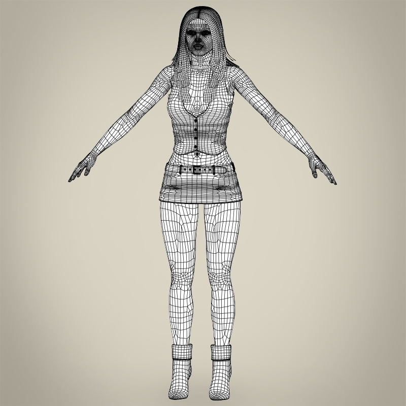 realistic beautiful sexy girl 3d model 3ds max fbx c4d lwo ma mb texture obj 208528
