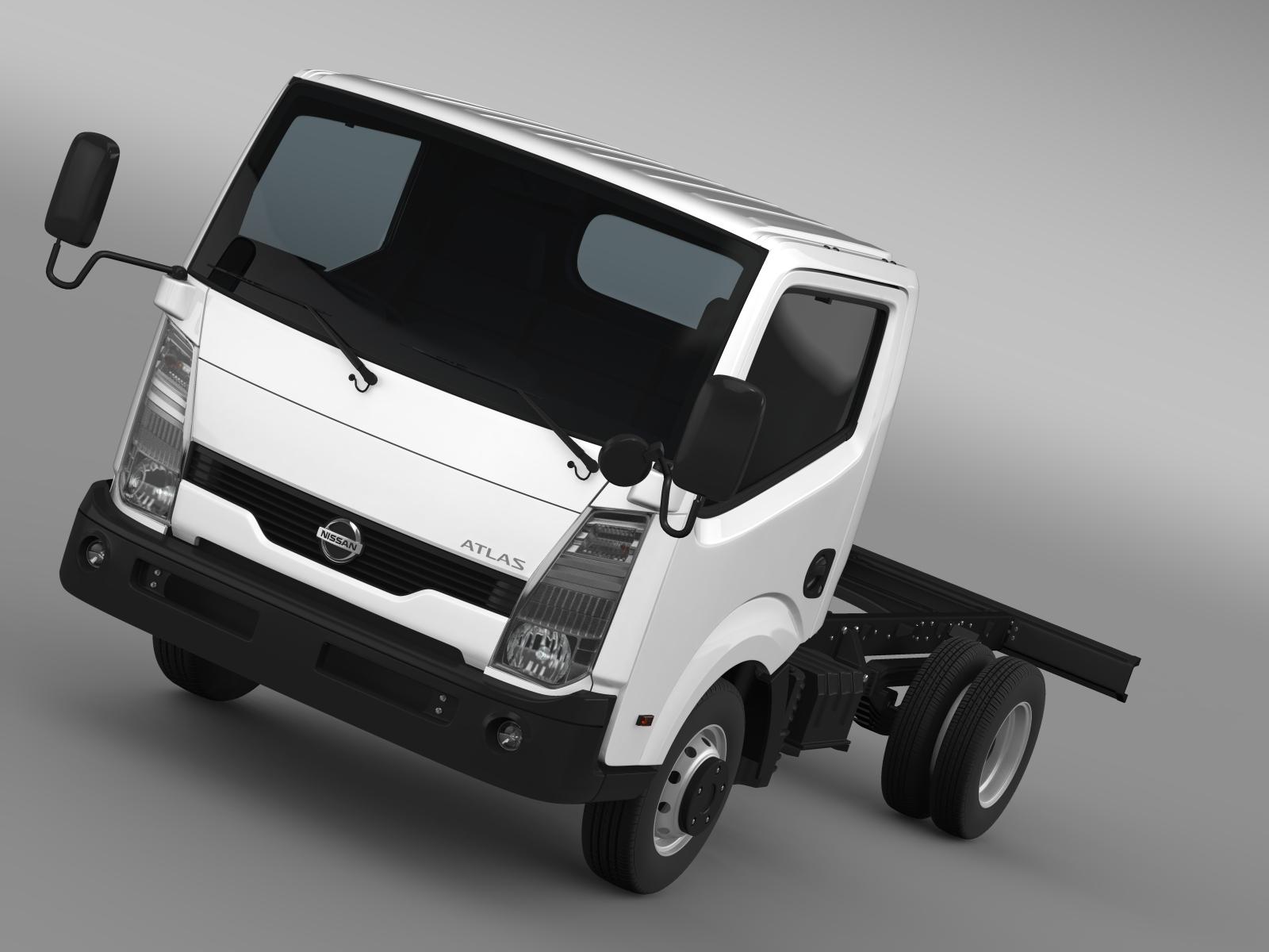 Nissan Atlas Chassi 2013 3d model 3ds max fbx c4d lwo ma mb hrc xsi obj 208550