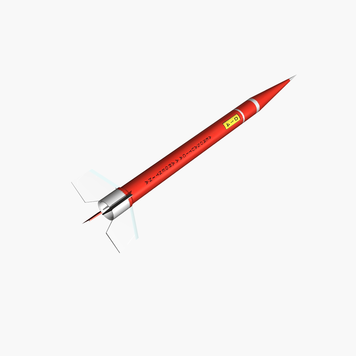 orion ii rocket 3d model 3ds dxf fbx blend cob dae x  obj 208631