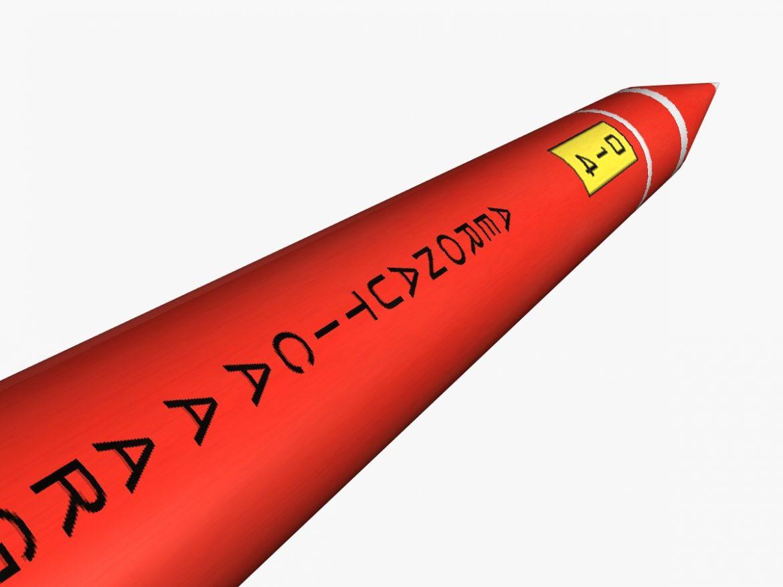 Orion II Rocket 3d model 0