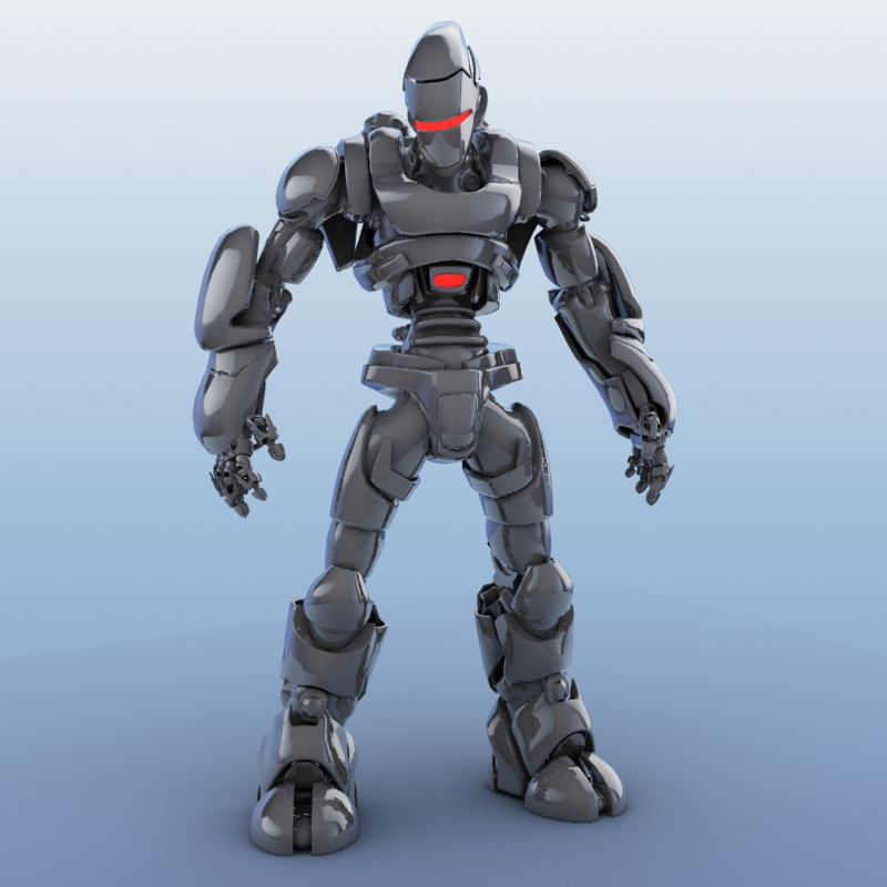 robot 01 3d model 3ds max fbx obj 208643