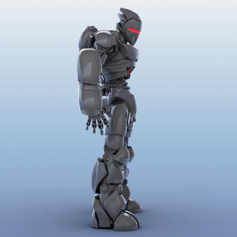 robot 01 3d model 3ds max fbx obj 208644