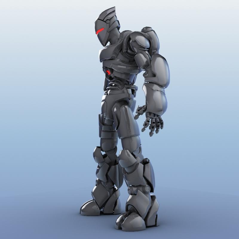 robot 01 3d model 3ds max fbx obj 208645