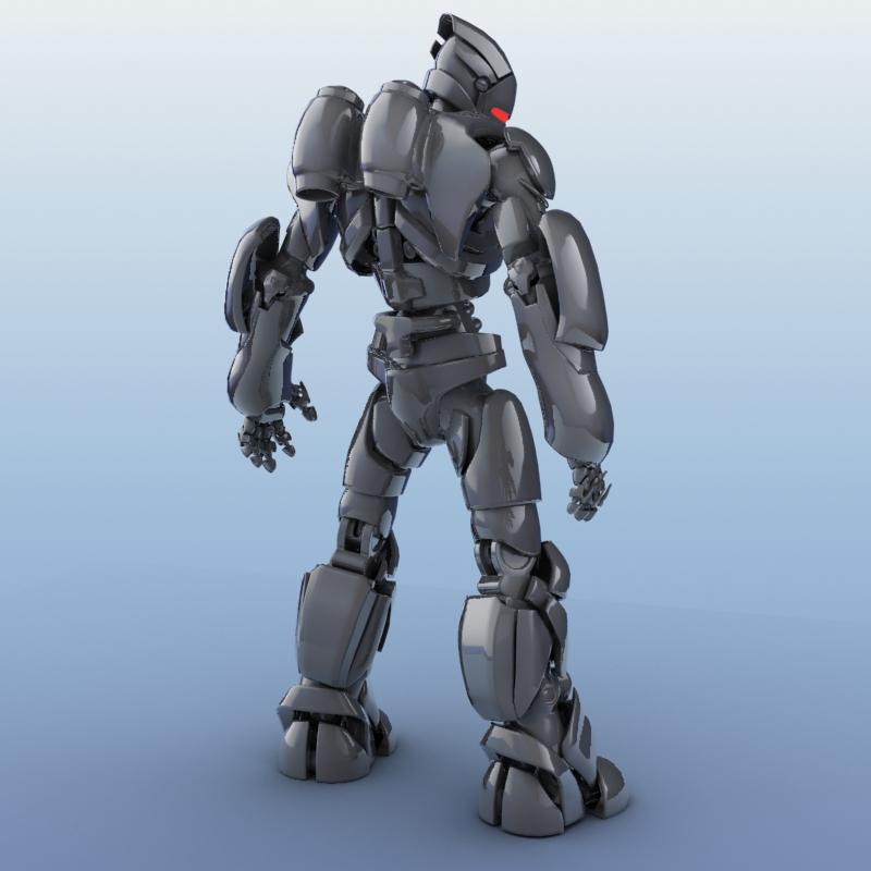 robot 01 3d model 3ds max fbx obj 208647