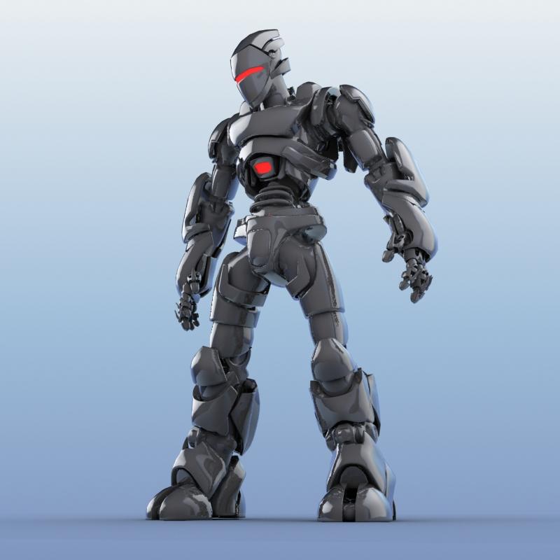 robot 01 3d model 3ds max fbx obj 208648