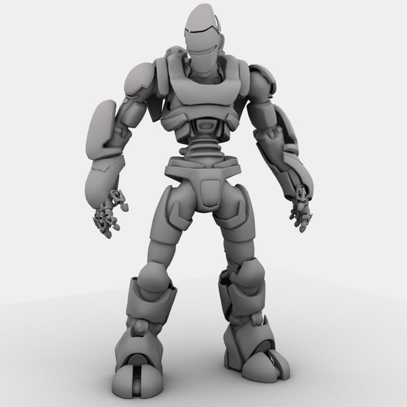 robot 01 3d model 3ds max fbx obj 208649