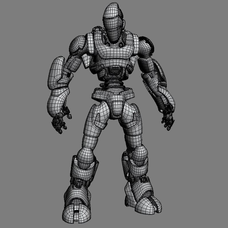robot 01 3d model 3ds max fbx obj 208650