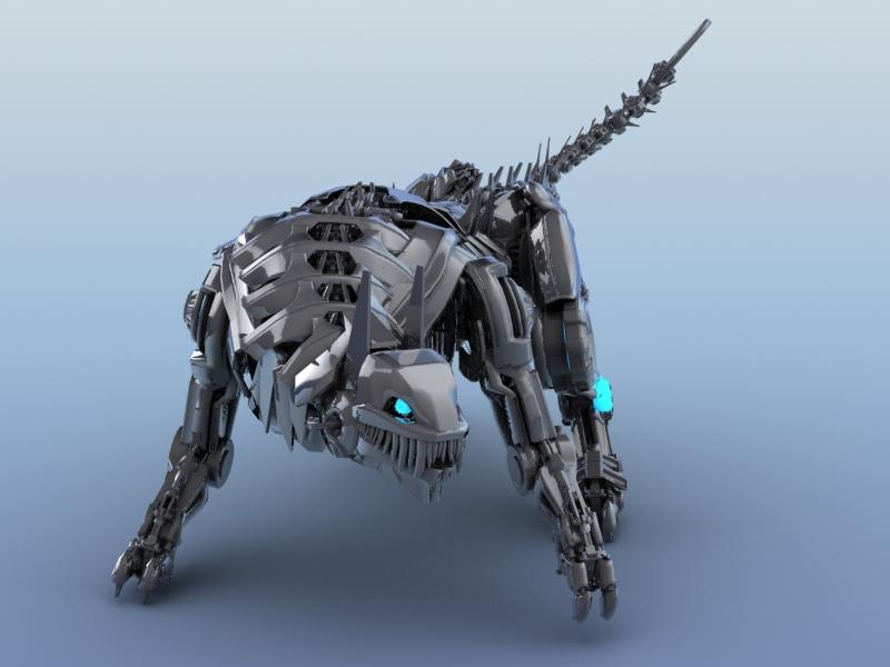 robot tiger 3d model 3ds max fbx flt 208656