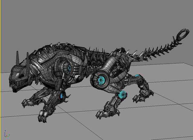 robot tiger 3d model 3ds max fbx flt 208659