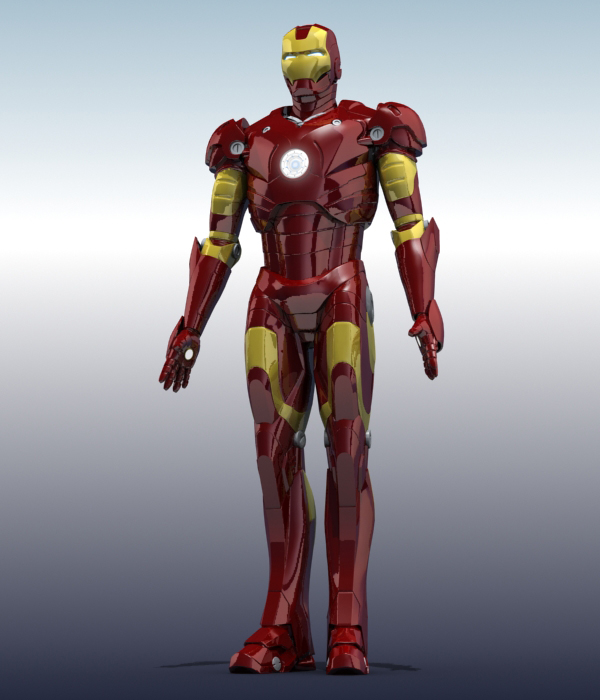iron man 3d model 3ds max fbx obj 208669