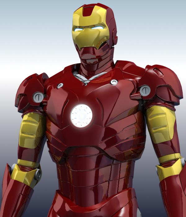 iron man 3d model 3ds max fbx obj 208670