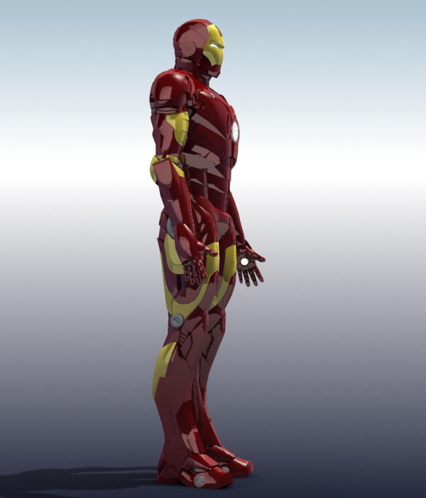 iron man 3d model 3ds max fbx obj 208671