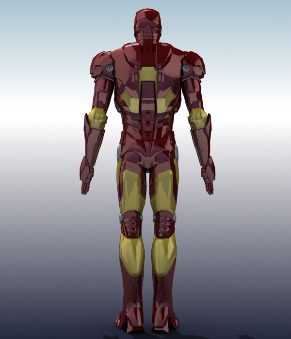 iron man 3d model 3ds max fbx obj 208672