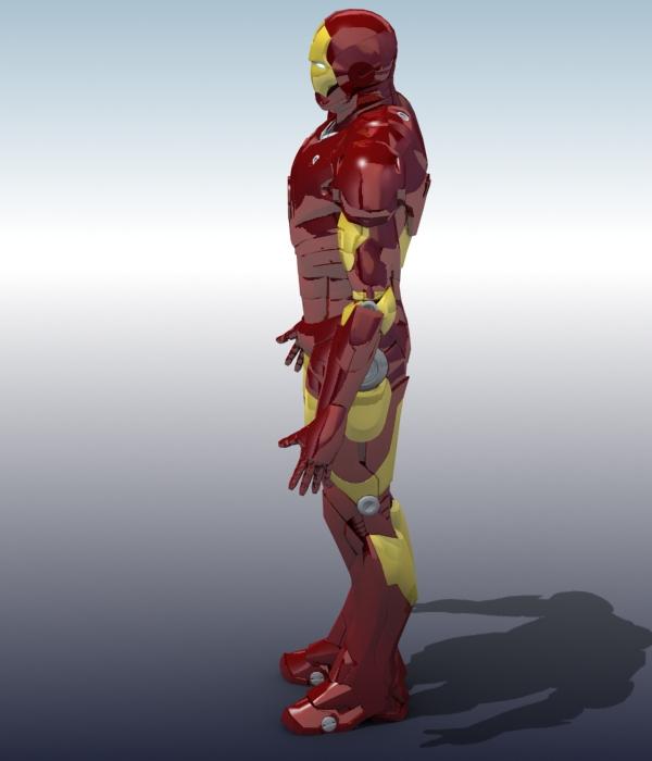 iron man 3d model 3ds max fbx obj 208673