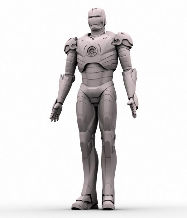 iron man 3d model 3ds max fbx obj 208674