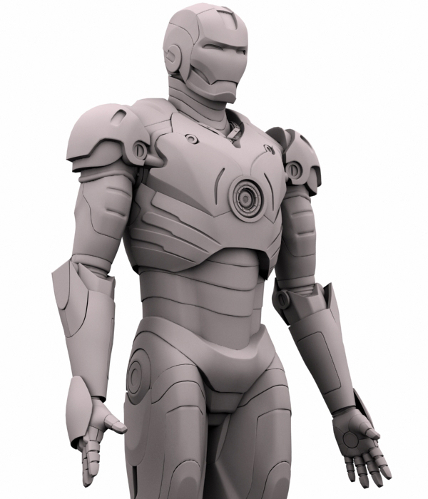 iron man 3d model 3ds max fbx obj 208675